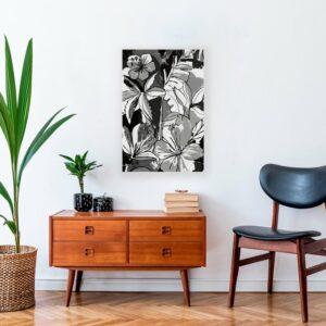 Décoration Murale Tropical Noir et Blanc