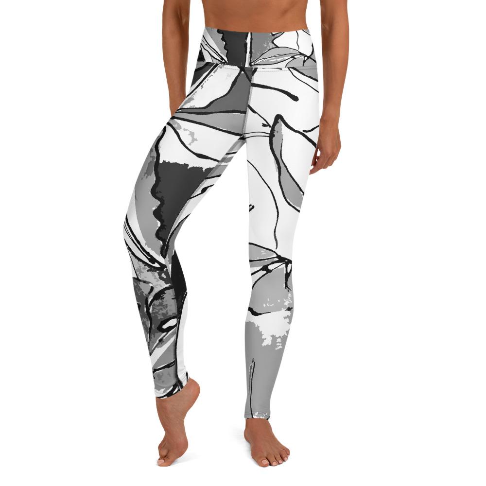 Leggings Tropical noir et blanc ATONPIXEL