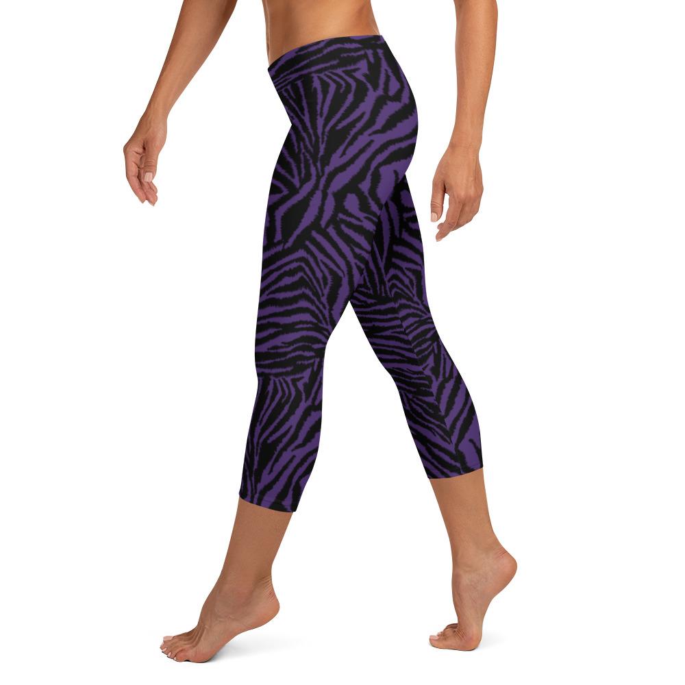 Leggings court Zèbre noir violet ATONPIXEL