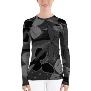Floral Tropical T-shirt manche longues Femme