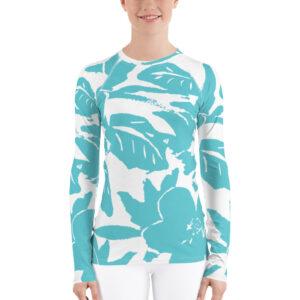 Soft Blue T-shirt manches longues Femme