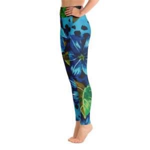 Leggings Tropical Panthère bleu