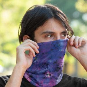 Cache Cou Bandana Cagoule Tie Dye Violet