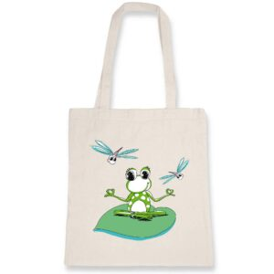 Lotus Pose Tote Bag Coton Bio