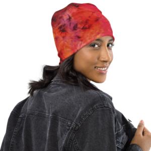 Bonnet Tie Dye Rouge