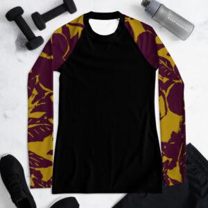 Chocolat Tropical T-shirt de Compression pour Femme