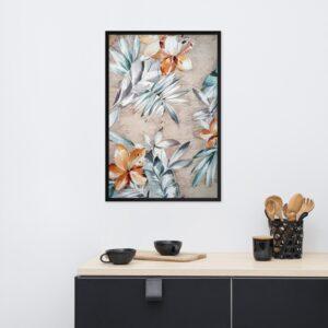 Poster Vintage Floral Tropical