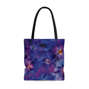 Tote Bag Tie and Dye Violet