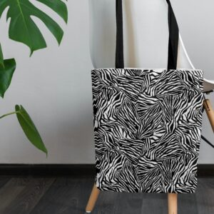 Tote Bag Zèbre Noir et Blanc