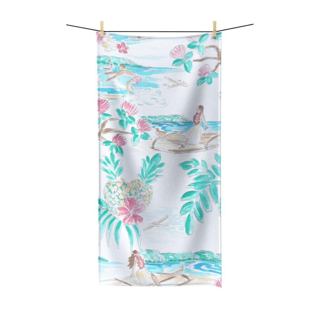 Beach Towel Waikiki Atonpixel