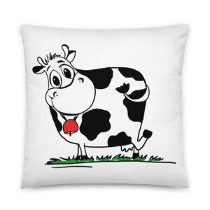 Coussin Vache Cloche rouge