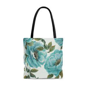 Tote Bag Roses Bleues