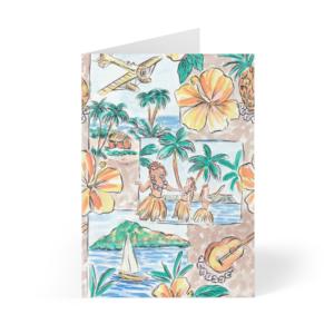 Cartes postales Hula Girls Aloha Lot de 3