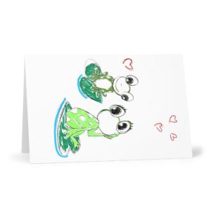 Carte vœux Grenouilles Lot de 3