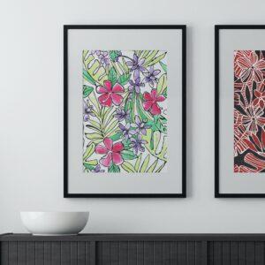 Hibiscus Aquarelle
