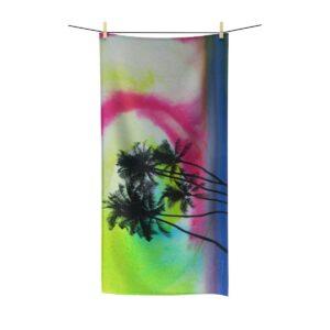Serviette Plage Palmiers Tie Dye