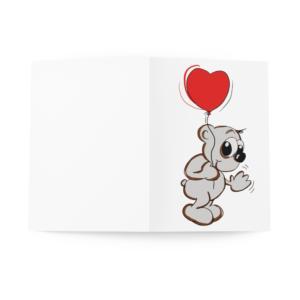 Carte vœux Gros Cœur Lot de 3