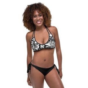 Bikini Tropical noir blanc