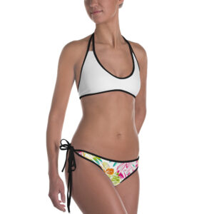 Bikini Tropical couleurs blanc