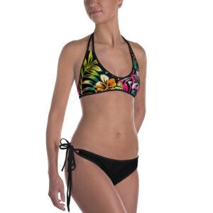 Bikini Tropical couleurs noir