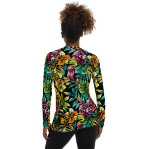 Maillot de Bain / Tshirt manches longues TROPICAL coloré